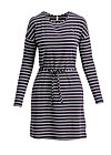 logo stripes longsleeve dress, walk line , Kleider, Schwarz