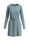 logo stripes longsleeve dress, water line, Dresses, Turquoise