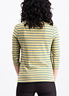 logo stripes sailorette 3/4 shirt, corn line, Shirts, Gelb