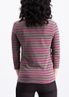 logo stripes sailorette 3/4 shirt, tough line, Shirts, Green