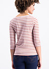 logo stripes sailorette 3/4 shirt, western line , Shirts, Rosa