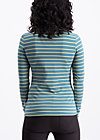logo stripes turtle longsleeve, water line, Shirts, Turquoise