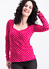 mary lous lovely  longsie , dots of roses, Shirts, Red