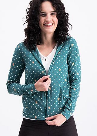 sweet little cowgirl zip, dots of homeland, Pullover & leichte Jacken, Türkis