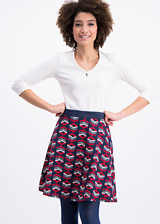 veranda rose skirt , flowers for you, Röcke, Blau