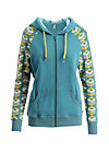 what a pleasure hooded zip, flowers for jane, Hoodies, Türkis