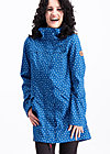 wild weather long anorak, dot and anchor, Jackets & Coats, Blue