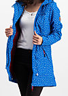 wild weather long anorak, dot and anchor, Softshell, Blau