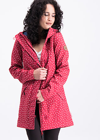 wild weather long anorak, dot and love, Jackets & Coats, Red