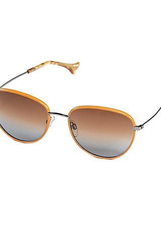 charlestown var.2, gun brown leather 03 lw sun, Wonderglasses, Braun
